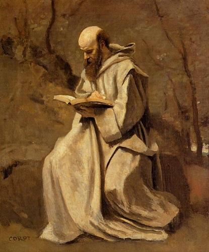 monk reading thomas merton