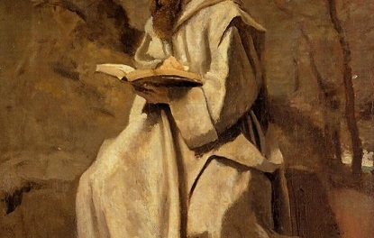 monk reading thomas merton