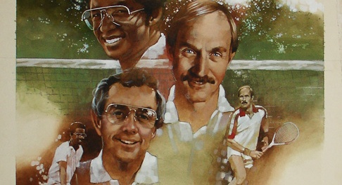 Arthur Ashe and Stan Smith by Bob Briner