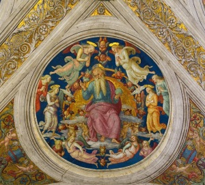 Pietro Perugino, God the Father and Angels, Sistine Chapel