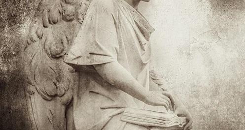 Angel With Big Book by Kathryn Maris
