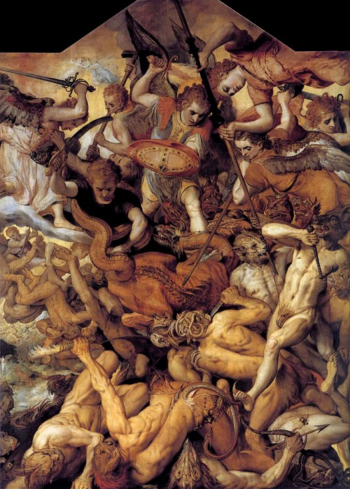Frans Floris, the Fall of the Rebel Angels