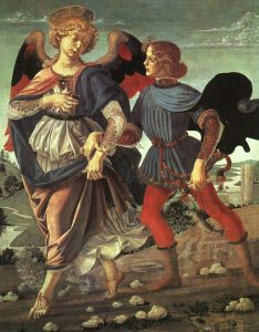 Tobias and the Angel by Verrocchio