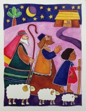 Shepherds At The Manger by Raymond Chapman