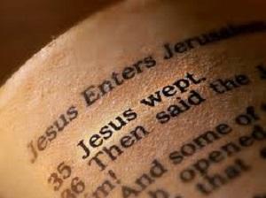 Jesus outraged and grief stricken