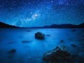 dawn walks in blue and diamonds