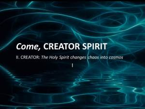 The Spirit As Creator In Tradition by Raniero Cantalamessa