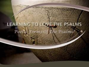 Poetic Forms Of The Psalms by W. Robert Godfrey