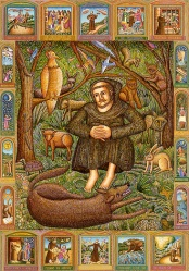 Saint Francis And The Wolf by Nathalie Leone