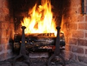 When the Yule Log Burns, A Christmas Story, by Leona Dalrymple