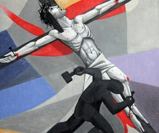 11 Jesus Is Nailed To The Cross by Caryll Houselander