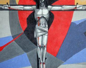 12 Jesus Dies On The Cross by Caryll Houselander